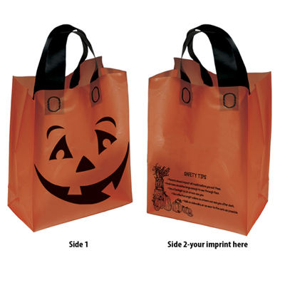 Orange Halloween Pumpkin Shopper