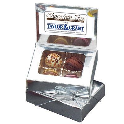 Business Card Box with Truffles