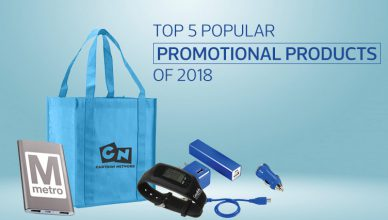 Top 5 Popular Promotional Products of 2018