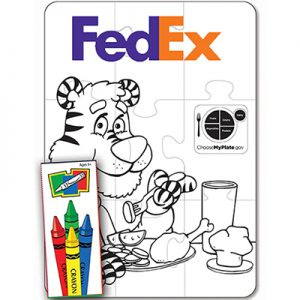 Nutrition 9 Piece Coloring Puzzle Set
