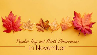 Day & Month Observances in November