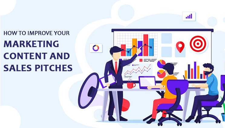 marketing content and sales pitch improvement ways