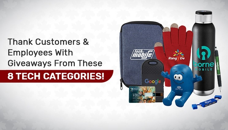 tech giveaways for employee and customers