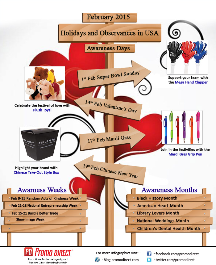 Holidays and Observances in USA, Feb 2015