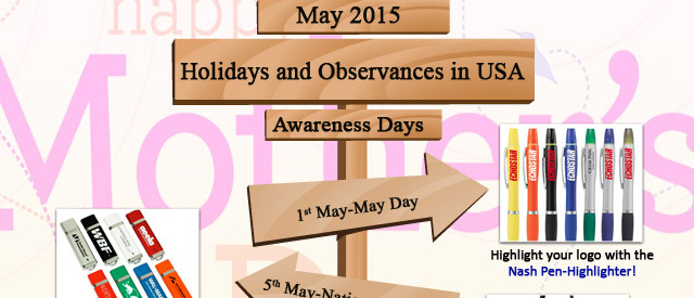 Holidays and Observances in USA, May 2015